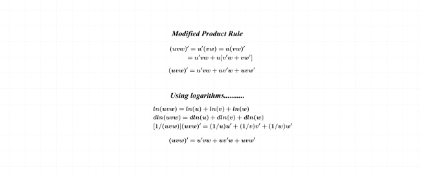 Modified Product Rule